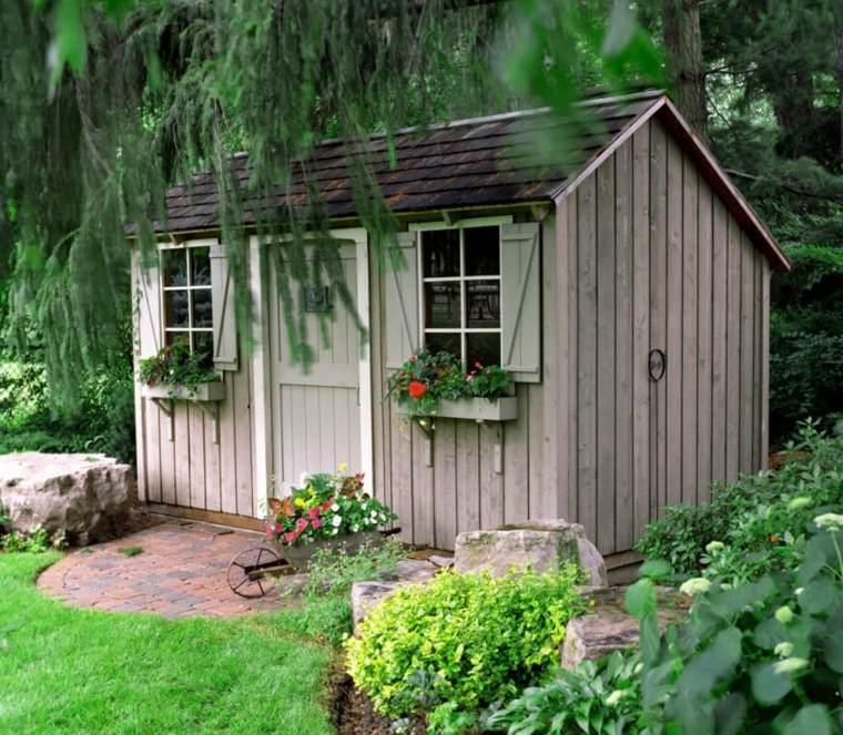 jardines rusticos carito flores maceta caseta ideas