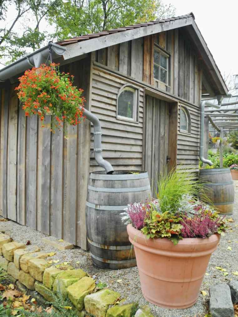 jardines rusticos caseta madera opciones ideas