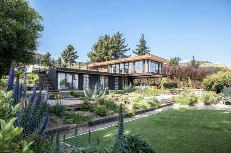 jardines terrazas diseños modernos escaleras