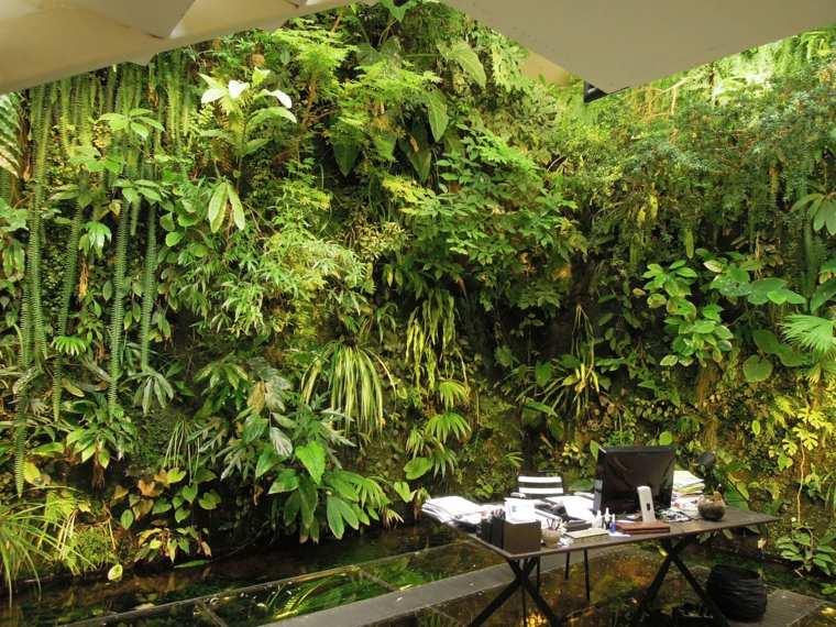 jardines verticales frondosos interior deco