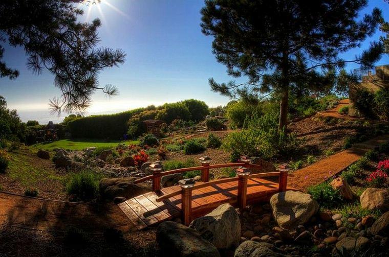 jardines modernos puentes madera deco