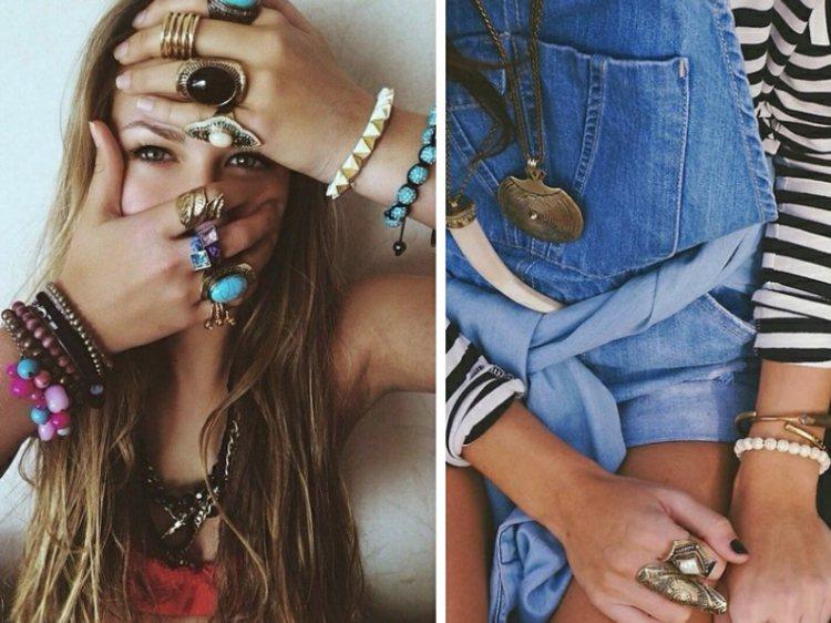 joyas tendencias 2016 anillos distintos colores ideas