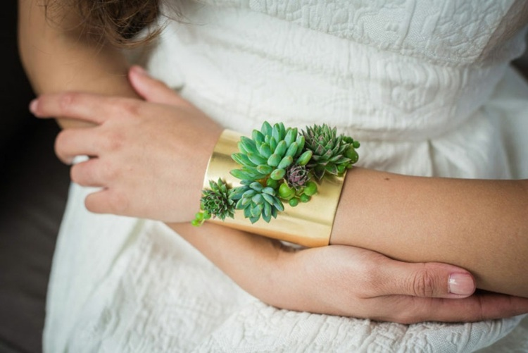 joyas vivas pulsera plantas brazaletes