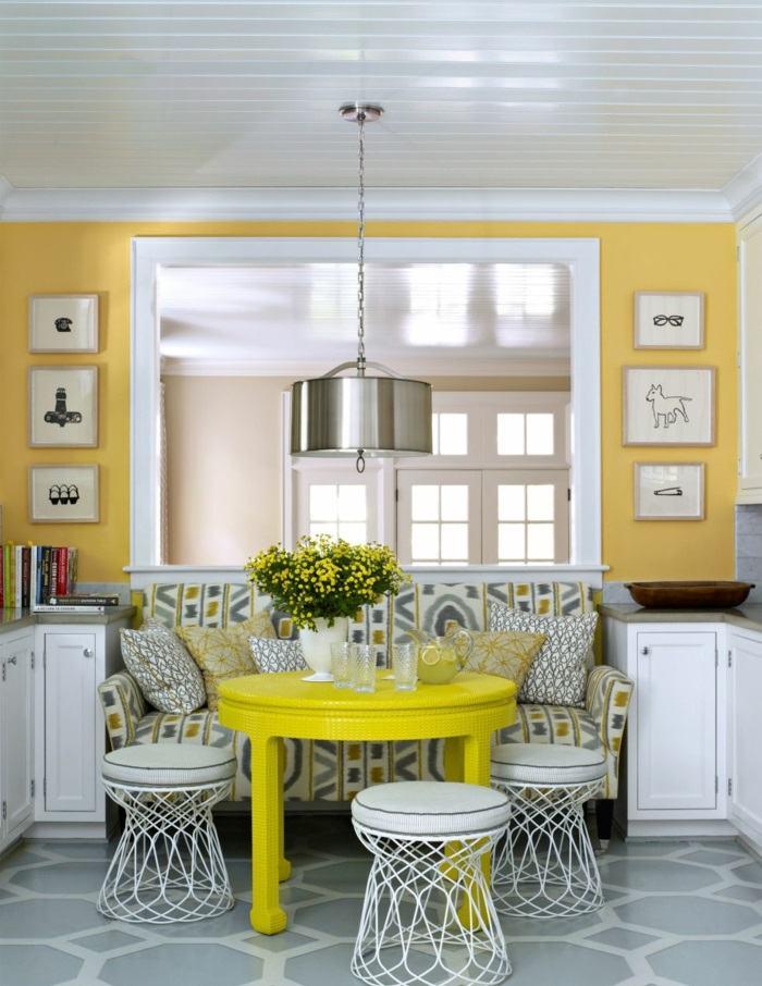 la primavera comedor mesa amarilla ideas