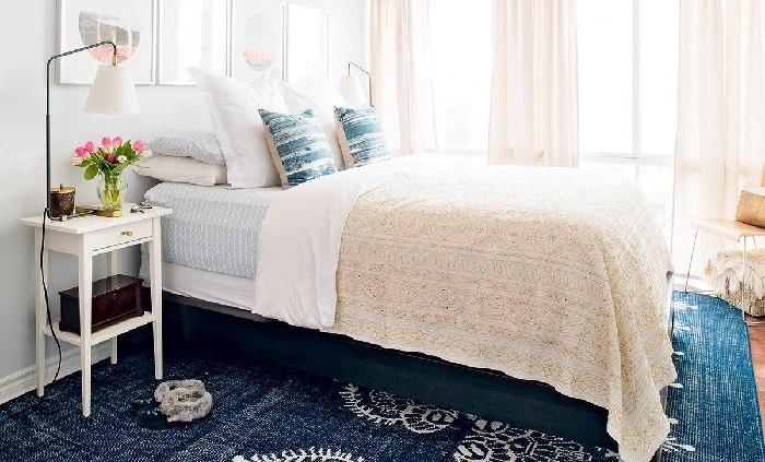 la primavera dormitorio colores pastel azul ideas