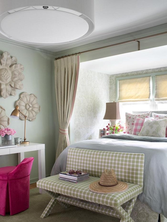 la primavera dormitorio flores madera pared ideas