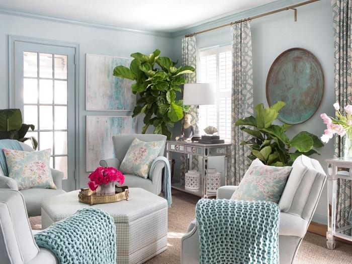 la primavera salon moderno plantas ideas