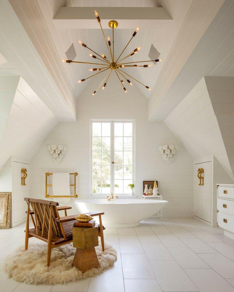 lampara llamativa sillon madera ideas
