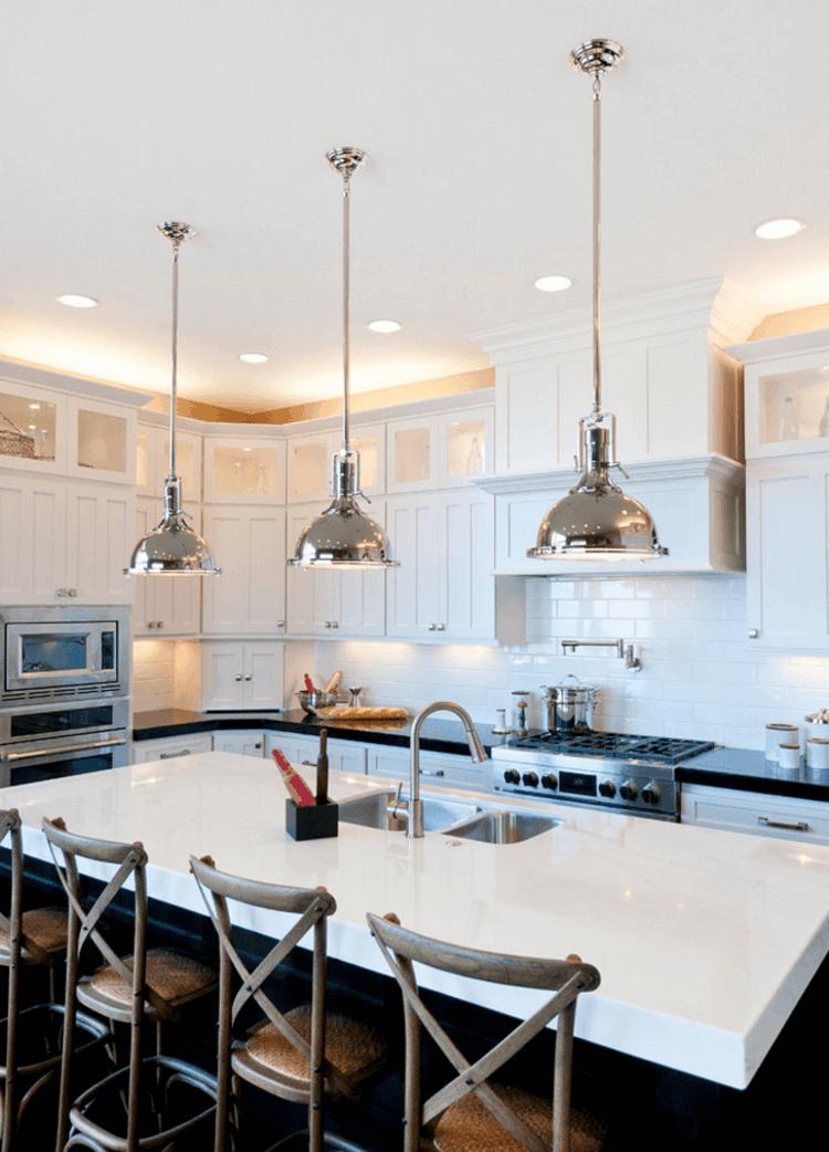 Lamparas de cocina modernas para una iluminaci n pr ctica for Disenos de muebles de cocina colgantes