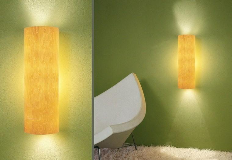 lamparas de pared color amarillo bonito ideas