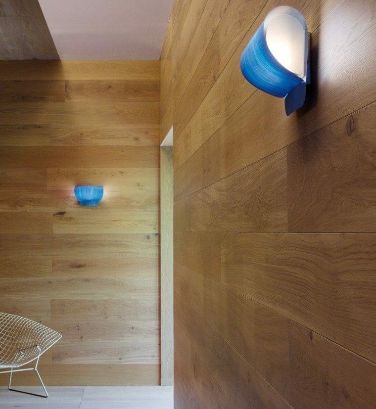 lamparas de pared color azul ideas