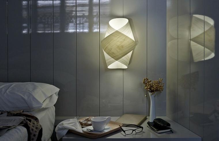 lamparas de pared diseno espectacular blanca ideas