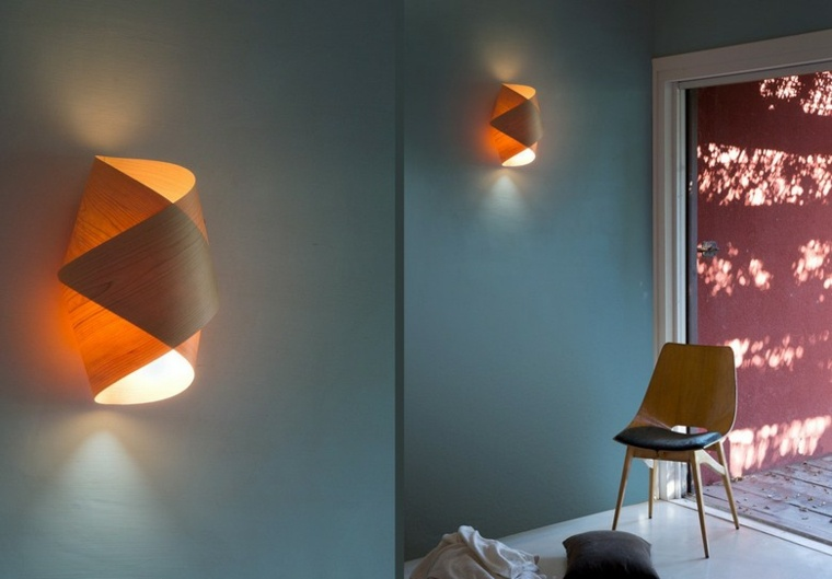 Lamparas de pared 50 diseños naturales de madera -