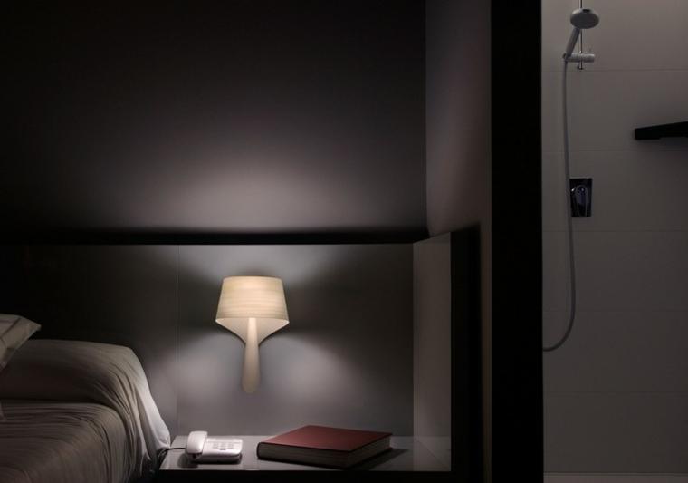 Lamparas para pared interior lmpara de pared que funciona - Lamparas pared dormitorio ...