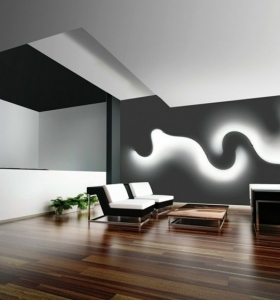 Iluminacion indirecta led salon y salas de estar for Lamparas led interior