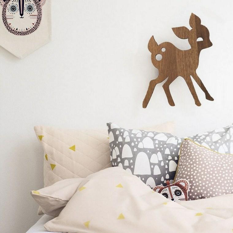 lamparas pared diseno ciervo habitacion nino ideas