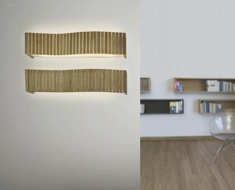 lamparas pared diseno contemporaneo salon idea