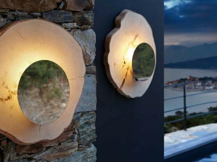 lamparas pared diseno espacios aire libre ideas