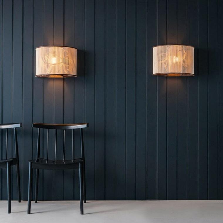 Lamparas de pared 50 dise os naturales de madera for Lamparas diseno imitacion