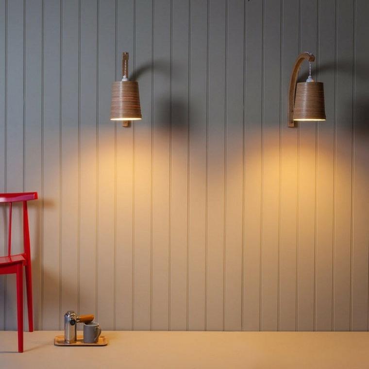 lamparas pared diseno imitan campanas ideas