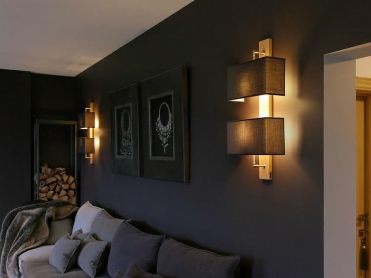 Lamparas de pared 50 dise os naturales de madera Lamparas para salon modernas