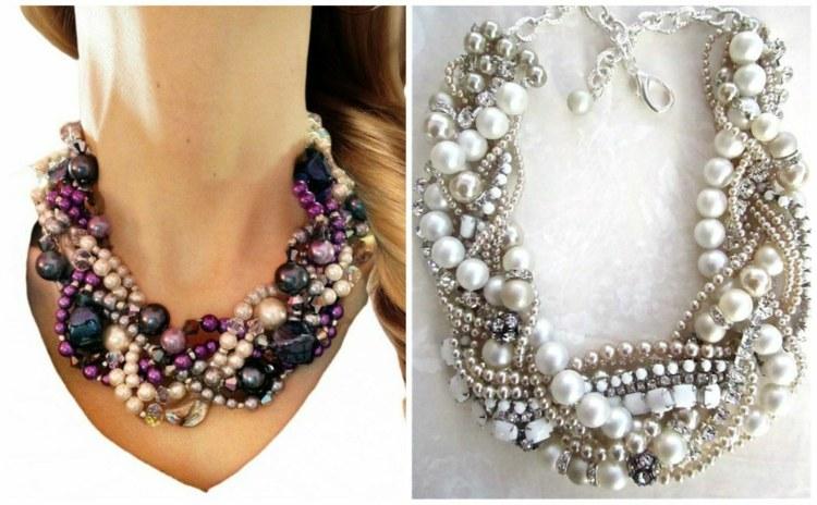 las mejores ideas joyas collares perlas moderna