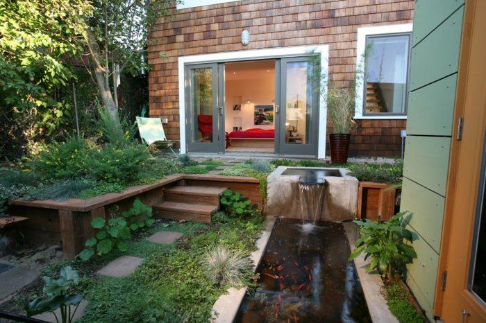 side houses living rooms modern fields bricks