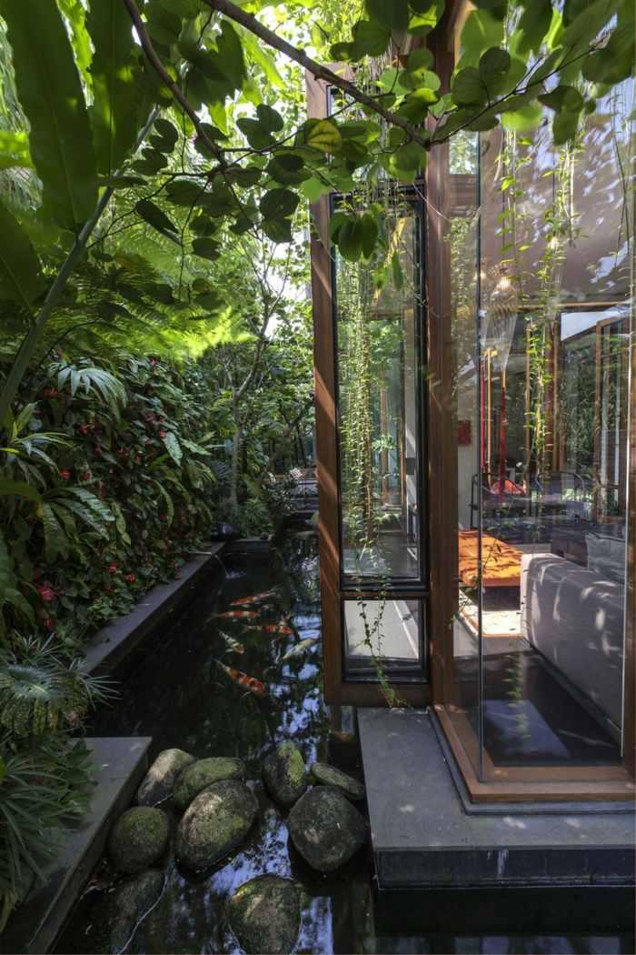 laterales casas salones modernos ideas aguas