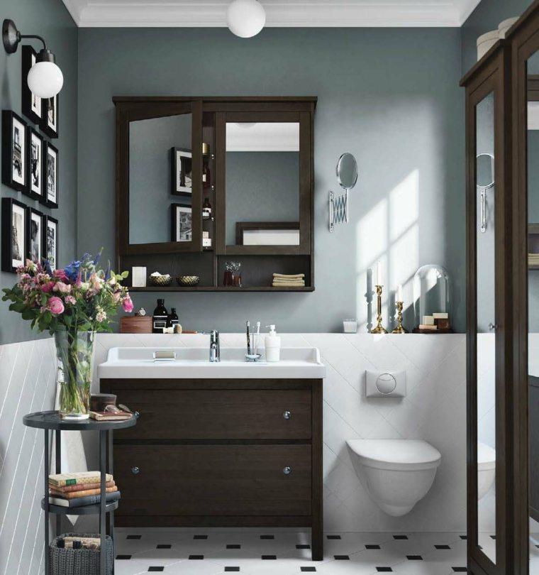 lavabo madera color marron losas preciosas ideas