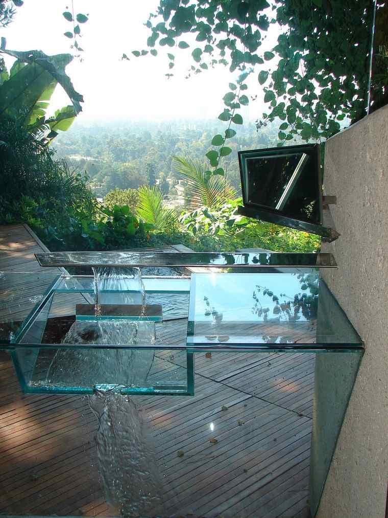 lavabo moderno cristal casa colina ideas
