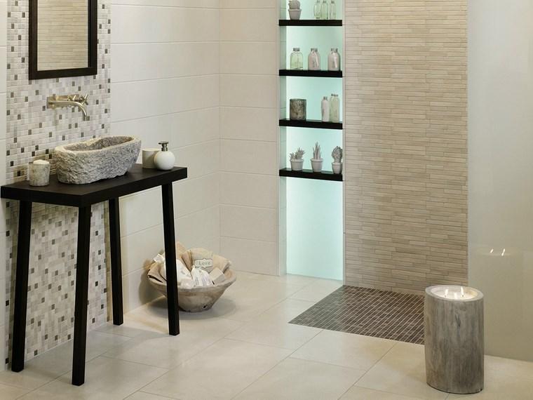 lavabo negro original mosaico bano ideas