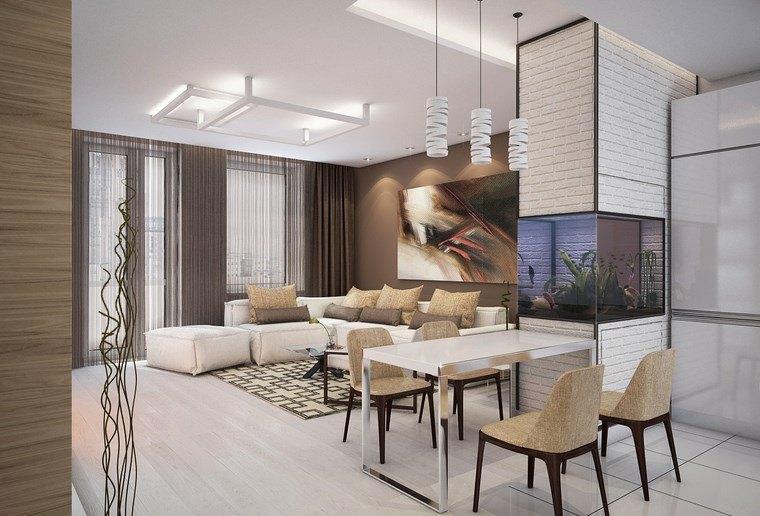 Luz led 100 interiores con dise o espectacular - Iluminacion salon comedor ...