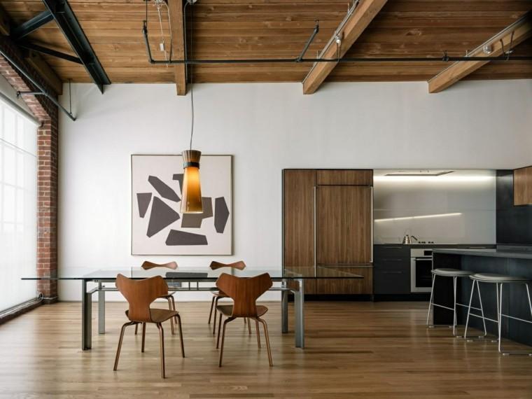 loft opciones cocina comedor barra muebles ideas