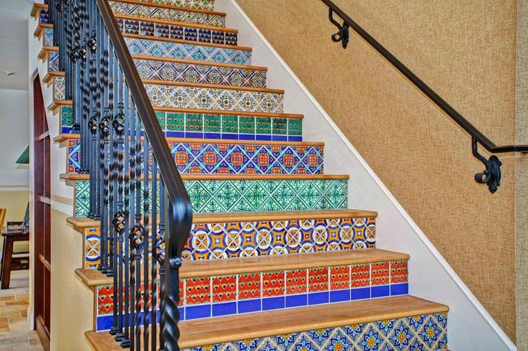 losas preciosas escaleras casa ideas