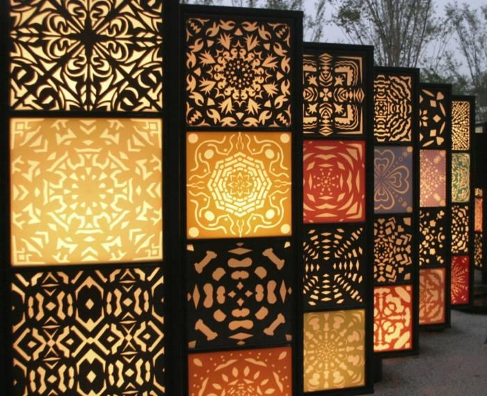 luminosas separaciones detalles color luces