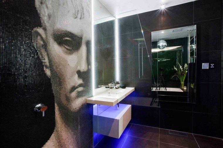 luz LED opciones interiores vano moderno mosaico ideas