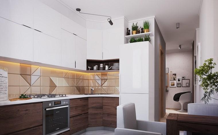 luz led opciones interiores cocina pequena ideas