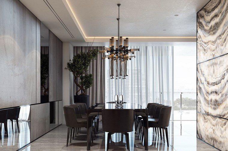 luz led opciones interiores comedor lujoso ideas