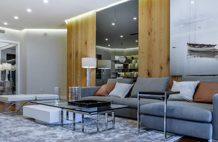 luz led opciones interiores espajo grande salon ideas
