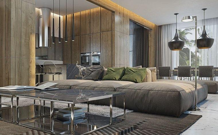luz led opciones interiores muebles grices ideas
