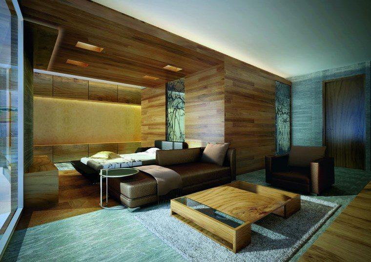 luz led opciones interiores pared madera dormitorio ideas