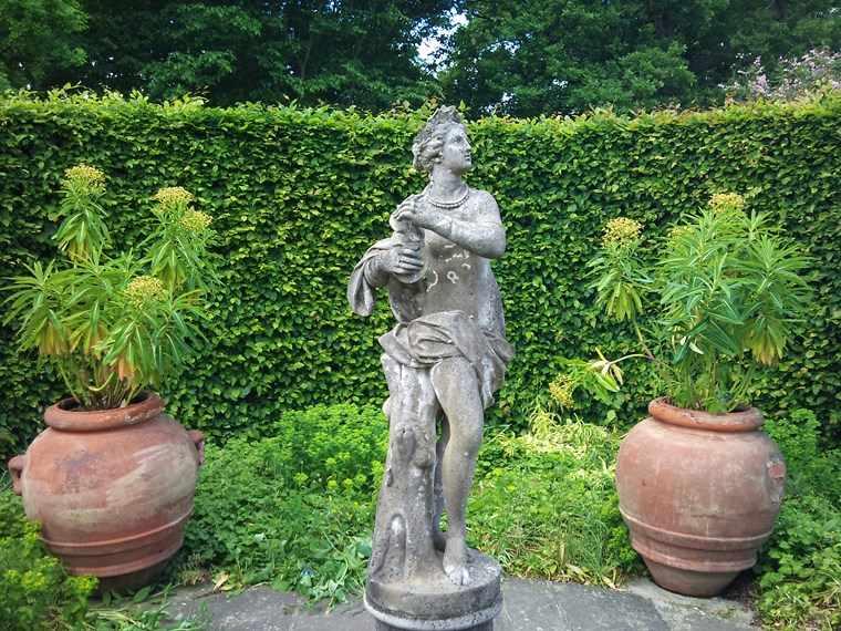 macetas grandes jardin opciones estatuas ideas