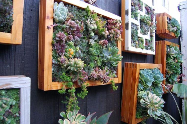 marcos madera jardines paredes