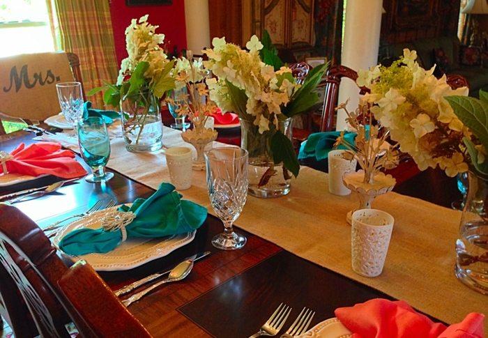 mesa centro primavera camino mesa flores ideas