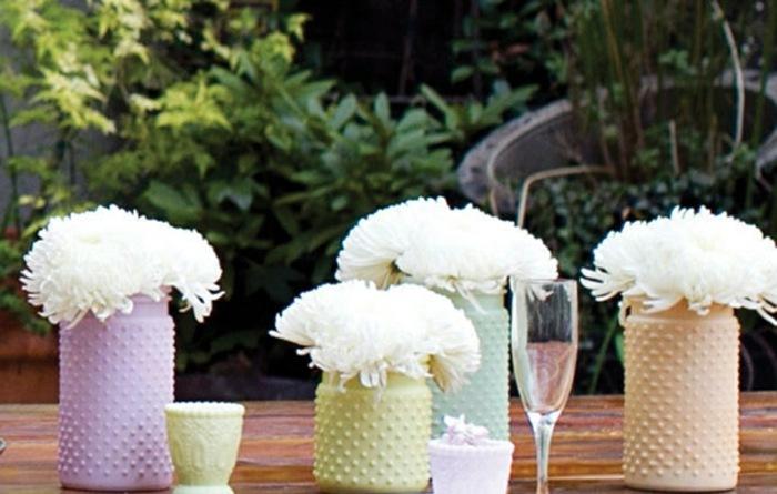 mesa centro primavera colores pastel ideas