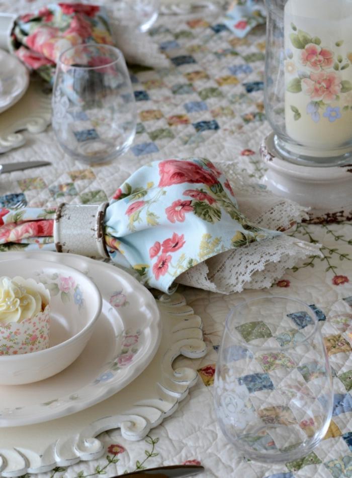 mesa centro primavera mantel estampa flores ideas