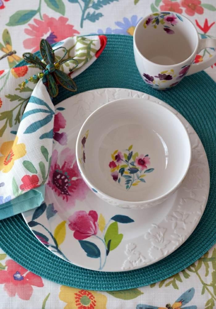 mesa centro primavera mantel platos estamapa ideas