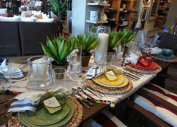 mesa centro primavera plantas macetas ideas