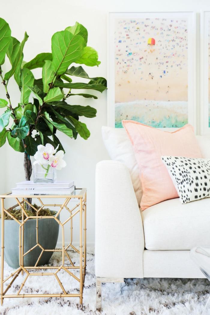 mesa centro primavera salon sofa planta ideas