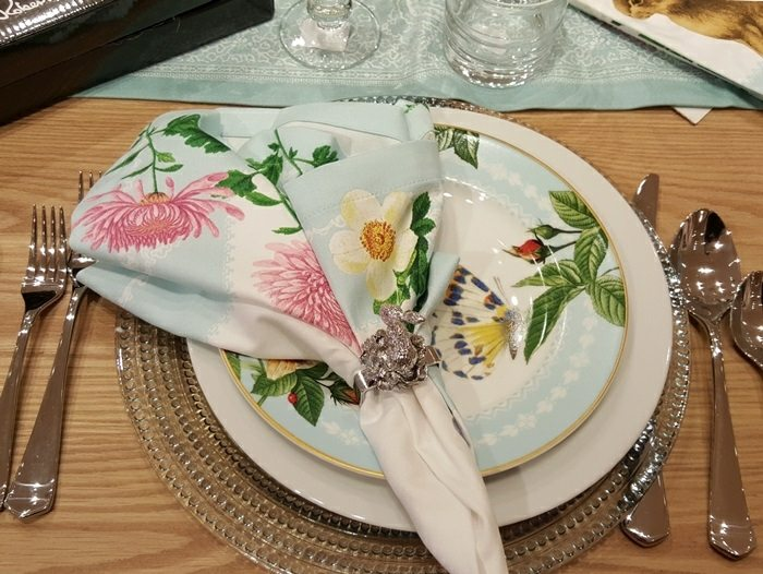 mesa centro primavera servilletas preciosas ideas